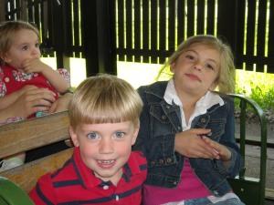 Jonathan and Anna on the train